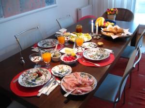 Waltrauds wunderschöner Frühstückstisch